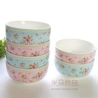 Rustic rose bone china fresh bowl