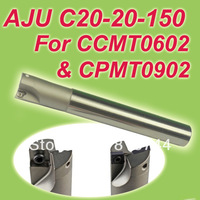 Free Shiping TJU/AJU C20-20-150 Dia 20mm Insertable Bore Drilling End Mill Cutting Tools Arbor  for CPMT090204  & CCMT060204