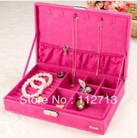 New arrival, Korea style different color velvet jewelry storage box for earrings wholesale free shipping