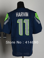 Free Shipping Wholesale&Retail Men's Elite American Football Jersey #11 Percy Harvin Jersey,Embroidery Logos,Can Mix Order