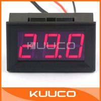 "5 PCS/LOT 0.56"" -50 ~110 Celsius Degrees Red LED Digital Thermometer DC 6V 12V Temperature Monitor Meter#100126"
