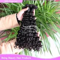8A unprocessed virgin brazilian hair 20-25g/piece 4pcs per bundle brazilian deep wave 8inch-18inch brazilian curly virgin hair