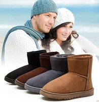 2013 new free shipping male shoes winter men's warm snow boots cotton boots short boots male boots