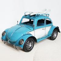 Canducum Large metal vintage classic cars beetle model decoration beetle