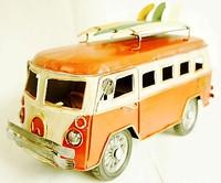 Multicolour tieyi vintage van model kitchen cabinet decoration supplies decoration nostalgic model bus cars