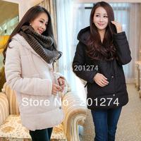 2014 New Rushed Regular Full Solid Jaqueta Feminina Winter Coat Winter Women's Medium-long Wadded Outerwear Cotton-padded Jacket