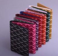 PH06 11 Colors! Free Shipping Small Card Bag Stylish Designer Unisex Real Leather + PVC Card Holder / Fashion Passport Holder