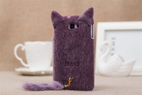 hot sale!! fashion cute Plush tail tpu inner shell mobile phone protective Case for samsung galaxy note2 n7100 and S3 I9300