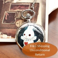 Free shipping wholesale dropship 2013 hot sale fashion rabbit horn Ceramic watch Pocket for women ladies