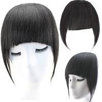 100%  Dark Auburn   Virgin Remy Human Hair Extension Clip in Hair Bangs Side Fringe Grade