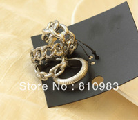 2013 New Coming Fashion Circle Four Pcs Gold Silver Ring Set Jewelry
