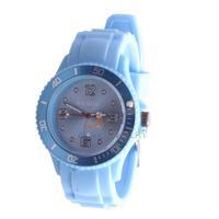 LY4# Fashion Light Blue Silicone Rubber Band Quartz Sports Wrist Watch Unisex