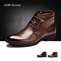 Free shipping, winter, Male, genuine leather, cotton shoes, England, trend high-top, Korean, fashion, men's boots, 38-43
