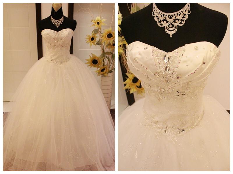 2013 sweetheart neckline bride wedding dress glitter paillette ...