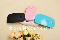 Free shipping wireless mouse and mice 2.4G receiver, super slim mouse