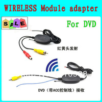 2.4G WIRELESS Module adapter RCA Video Transmitter Receiver for Car Reverse Rear View backup Camera cam and car DVD+7' monitor