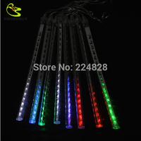 High Quality 30CM 8pcs/set LED Christma Decoration Led Meteor Tube 220V White Outdoor String Lights