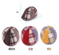 1-8 years Kids Boy/Girl Hats Visors Toddler Bear Ball Bow Headwear Patchwork Protect Adjustable Caps ET013