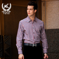 2013 male long commercial shirt male long-sleeve shirt plaid shirt
