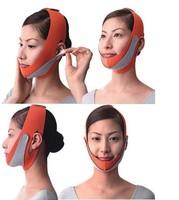 2pcs Women's V- Face Slimming Cheek Belt Strap Anti Wrinkle  Massage Mask  Top Sell  Free Shipping Orange Top Sale