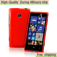 New Candy Grip TPU Gel Cover Case For Nokia Lumia 520 Free Shipping UPS DHL EMS HKPAM CPAM VE-11