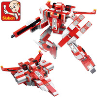 Sluban Robot Series Red Spider B0257 Building Block Sets 331pcs Educational DIY Jigsaw Construction Bricks Toys for Children