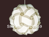 Modern IQ Puzzle Lamp Shade DIY Pendant Fixture Home Decor 30Pcs White S Diameter 20cm