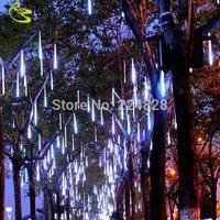 High Quality 0.8M 10pcs/set Led Raining Tube Christmas Tree  DC12V Decorations Outdoor Colorful Christmas Light Led Waterproof