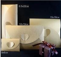 EN019 15*16cm Gold Paper Envelopes for Wedding Invitation/Card Packing Decor/ Business Invitation High Quality Can Print Logo