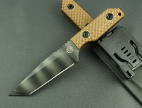 2014New Strider DB-L GG G-10 Brown G10 handle Kydex with Tek-lok bowie hunting knife fixed balde knife