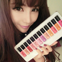 Free shipping christmas 2013 3ce paint lip gloss/liquid lipstick/ lip smacker sample 12 pc/colors high qualiy brand moisturizing