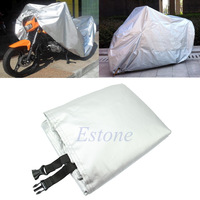 A31 New Arrive Motorcycle Waterproof UV Protective Scooter Rain Breathable Street Bikes Cover Silver Free Shipping