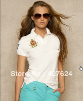 Free shipping 2013 New Arrival Summer POLO women Shirts Short-sleeved Polo for women Lovers Casual Style Solid color T shirt