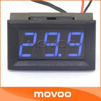 "5 PCS/LOT DC 6V/8V/12V Digital Thermometer 0.56"" Blue LED -50 ~110 Celsius Degrees Temperature Monitoring Meter #100127"