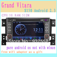 S150 Android 2.3 operation systerm gps player for SUZUKI Grand Vitara Navitel map wifi adapter as gift