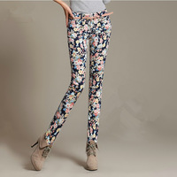 Autumn and winter skinny pants legging plus velvet thickening pencil pants female print skinny pants trousers