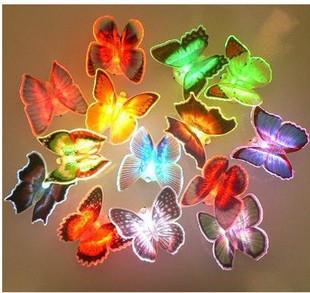 Потолочная плитка Artificial butterfly colorful light-emitting fiber optic lighting led lighting home decoration butterfly small night light dream