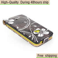 New Flowers Butterfly Pattern Vertical Flip Leather Case for Nokia Lumia 625 Free Shipping UPS DHL HKPAM CPAM DW-1