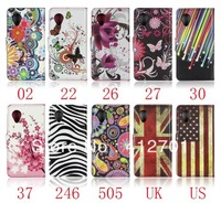 50pcs/lot free shipping Newest UK USA flag flower flip wallet leather cover case for LG Nexus 5 E980