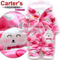 Winter fleece romper  bag cotton romper baby crawling service outerwear children's clothing