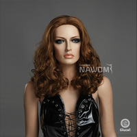 Best-selling short curly hair, South Korea's brown wig ,  Free shipping+Hairnet free