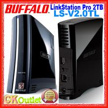 Brand New Buffalo LinkStation Pro 2TB 1-Bay SATA Fast1.6GHz Gigabit LAN DLNA NAS LS-V2.0TL with 1 Year Warranty (Free Gift)(China (Mainland))