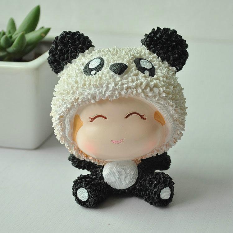 Free shipping zakka resin cartoon panda monkey doll ornament creative