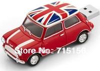Hot sale Mini Cooper Car Shape USB Flash Drive memory stick pendrive cartoon/gift 4GB 8GB 16GB 32GB Free Shipping