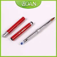 Free Shipping New Design Two Use Pure Kolinsky Nail Pen Nylon UV Gel Pen