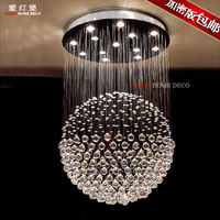 Modern brief led crystal pendant lamp fashion living room lights restaurant lamp bedroom lamp ball stair lighting