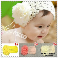 Fashion Baby Big Chiffon Flower Wide Crochet Headband,Children Girl Boutique Hair Bows,Baby Head Accessories,FS065+Free Shipping