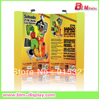 Spring pop up display stand aluminum trade show banner stand exhibition booth