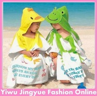 Free shipping cute animals Baby Cotton Bathrobe Children Beach Towel Kid Bath Robe