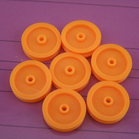 Yellow belt pulley Pulley plastic Diameter 16.8MM  Aperture 1.95MM  40pcs/lot free  shipping